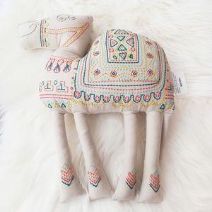 Camel Pillow Snuggler Embroidered Boho Kid Decor